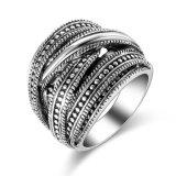Monili di costume dell'argento dell'annata dell'anello di Marcasite