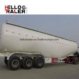 Del cemento del polvo a granel seco del acoplado del petrolero acoplados materiales del carro semi con el compresor de aire