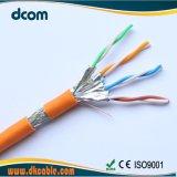 Venta caliente el cable CAT6A 4pares 23awg Bc 1000FT con RoHS aprobado