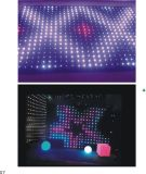 P10см светодиодный RGB видение шторки для проведения свадеб диско-эффект освещения сцены на фоне