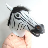 Suporte animal do teatro da máscara do traje do partido de Cosplay Halloween do látex da máscara da cabeça de cavalo