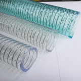 Flexible transparent sur le fil avec des tubes renforcés en plastique flexible en PVC