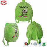 Sassy Sexy Lady Girl Greeen Soft Lovely Plush Kids Schoolbag