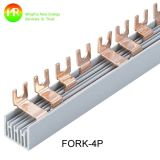 Disjuntor Cobre Barra de barras 2p Tipo de garfo Barra de ônibus de cobre