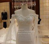 Aolanes Mermaid vestido de noiva Véu de ombro