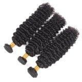 Qualitätsbrasilianisches Haar-tiefe lockige schwarze Farbe 18inches