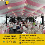 grande tente de mariage de 20X30m avec Windows transparent et doublure colorée pour 800 capacités P3/Haf/20m de personnes
