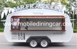 이동할 수 있는 체더링 차량 또는 전기 음식 트럭 또는 이동할 수 있는 커피 손수레