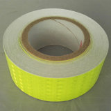 Avertissement de couleur jaune vert fluo PVC Bandes réfléchissantes pour la sécurité
