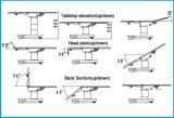 Cama Exame Multifuncional eletro-Quadro Operacional (HFEOT99D)