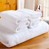 Het witte Satijn Terry Towel van het Hotel (DPF103)