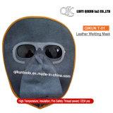Masker van het Lassen van het Leer van de koe het Gespleten met het Oogglas van de Veiligheid van de Bescherming