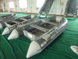 De hete Boot van de Motor van de Kleur van de Verkoop Grijze Opblaasbare voor Visserij