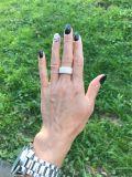 De vrije Verschepende Zilveren Geplateerde Ring van Juwelen 925