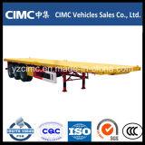 CIMC 40 pies Tres Eje Flat Bed Remolque
