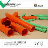 Courbure en cloche en plastique de 90 degrés de PVC d'ajustage de précision de pipe double