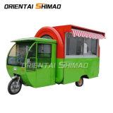 Toutes les tailles de 100 % d'inspection complète des distributeurs automatiques de café Hot Dog Tricycle personnalisé d'aliments de collation chariot