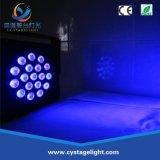 Vlakke PAR Light 18X3w RGB Colorful Mini Party LED Light