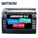 Processeurs quatre coeurs Witson Android 9.0 DVD de voiture GPS pour Fiat Ducato OBD2 Connexion Bluetooth