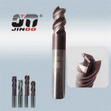HRC55 de la esquina de alta precisión Raduis R0.5 End Mill Fresadoras