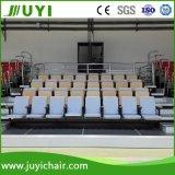 Telescópica retráctil asientos blandos Bleacher con madera silla atrás Jy-790