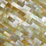 Gelbe Vierecks-Mosaik-Fliese des Lippenmopp-Shell-10*20mm