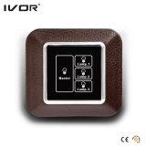 El panel de tacto del interruptor de iluminación de 3 cuadrillas con el marco de cristal del control principal (HR1000-GL-L3M)