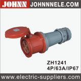 Verbinder des Liushi-Fabrik-Großverkauf-IP44 4p 63A für industrielles