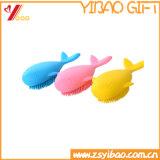 摩耗抵抗の動物のかわいいSliconeのブラシきれいなボディブラシのCustomedのロゴ(YB-HR-16)