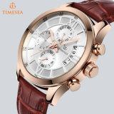 Orologio placcato oro su ordinazione della Rosa del cronografo per Men72653