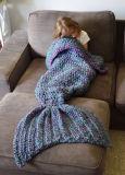 Coperta di lavoro a maglia del Crochet della sirena dei bambini