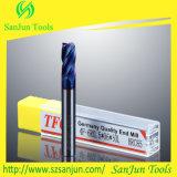 laminatoio di estremità del raggio dell'angolo del carburo della fresa di 6mm per acciaio