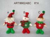 Regalos permanentes de la decoración de la Navidad de Sana, del muñeco de nieve y del duende, 3 Asst