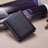 100% натуральная кожа портмоне мужчин короткое замыкание Wallet кошелек Wallet портмоне с логотипом клиента (B-05)
