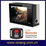 Usine 4k WiFi sport étanche Caméra HD 1080P Sport Caméra d'action avec contrôleur Romote 3 photos par seconde Ox-H3R
