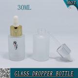 Glas der 1 Unze-leere Kosmetik bereiftes Tropfenzähler-Flaschen-30ml