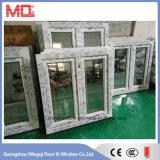 PVC et UPVC (couleur teinte gris et vert) Fenêtres en verre réfléchissant