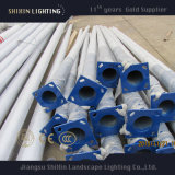 8mのステンレス鋼の白い屋外の街灯柱