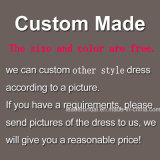 Vestidos nupciais Z4001 da foto real do laço dos vestidos de casamento da V-Garganta