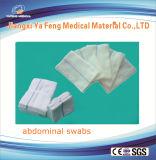 Tamponi addominali sterili 37cmx45xmx6ply con il filetto dei raggi X ed il ciclo blu. 5 PCS per sacchetto