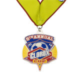 締縄の顧客用謝肉祭のカスタマイズされた堅いエナメルのサッカーメダル