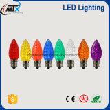 C7C9 E14 Natal LED LED cordão de pixel acende mini lâmpada de piton base parafuso