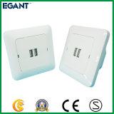 Удваивает выход заряжателя телефона безопасности переходники силы стенной розетки AC USB 2 Port