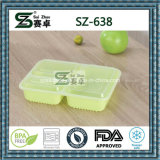 Praça de grau superior do compartimento 3 recipiente de alimentos de plástico descartáveis