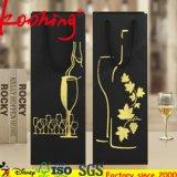 Saco de vinho de papel de alta qualidade para clientes Saco de presente de papel com papelão quente