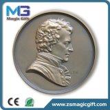 Prix bon marché personnalisé emballant la médaille de pièce de monnaie en métal
