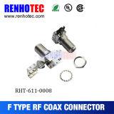 Connecteur imperméable à l'eau du compactage F du câble RG6