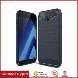 Аргументы за Samsung A3 A5 A7 2017 крышки TPU сотового телефона волокна углерода мягкое