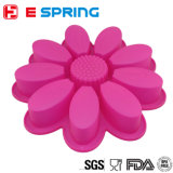 Moulage neuf de gâteau de silicones de moulage de savon de moulage de traitement au four de forme de tournesol de modèle
