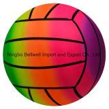 Напечатанный OEM шарик пляжа радуги PVC/шарик игры воды